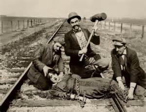 When I'm not busy nabbing guys, I like to tie young maidens to train tracks.  I'm very early 20th century mustache twirler.